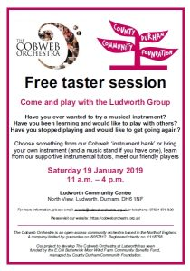 Free Taster Session - Come and Play with the Ludworth Group (Beginners) @ Ludworth Community Centre | Ludworth | England | United Kingdom